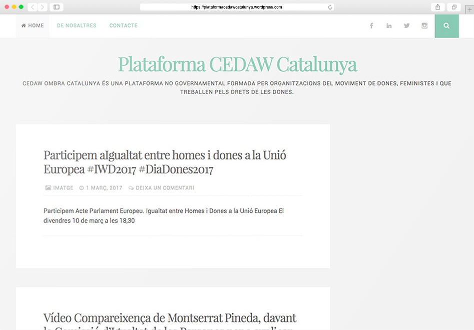 Plataforma Cedaw Ombra Catalunya