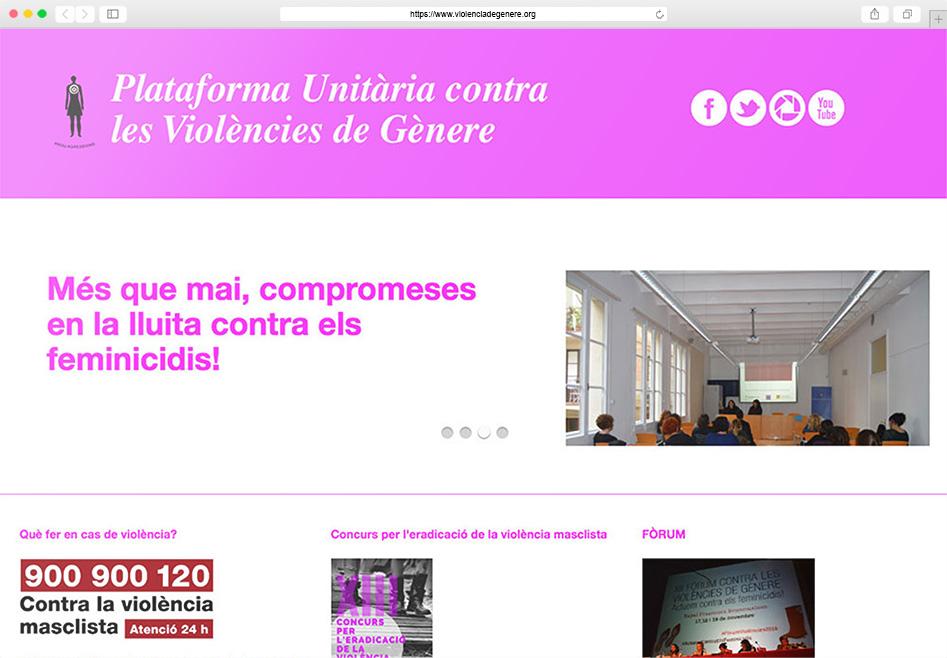 Plataforma Unitària contra les Violències de Gènere