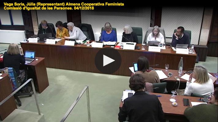 Presentació de l'informe 'Avaluació i propostes de millora dels circuits territorials de violència masclista' al Parlament