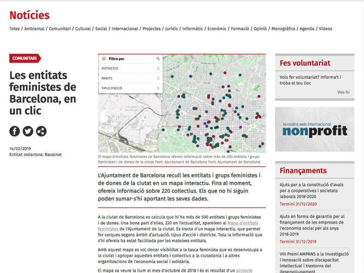 PREMSA: Les entitats feministes de Barcelona, en un clic