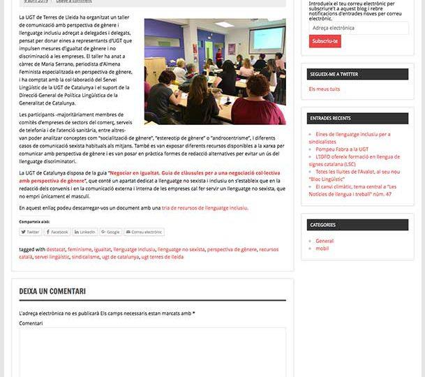 PREMSA: Eines de llenguatge inclusiu per a sindicalistes
