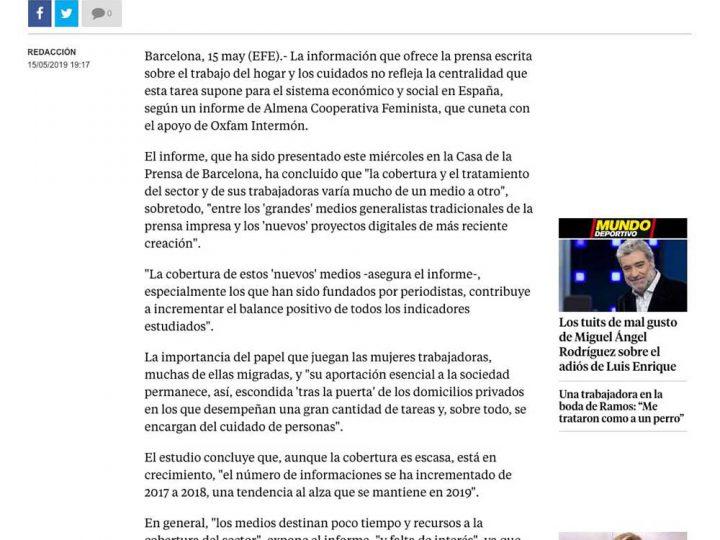 PRENSA: La Vanguardia «Denuncian la invisibilidad del trabajo en el hogar en los medios escritos»