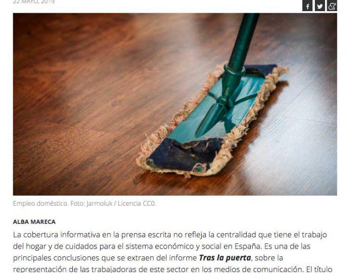 """PREMSA: La Marea """"La invisibilidad del trabajo del hogar y cuidados en los medios escritos"""""""
