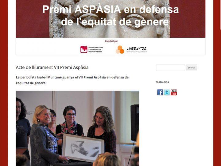 PRENSA: Acto de entrega VII Premio Aspàsia