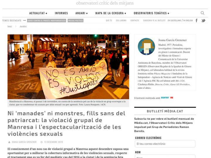 PREMSA: Ni 'manades' ni monstres, fills sans del patriarcat