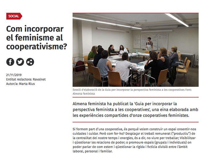 PRENSA: ¿Como incorporar el feminismo al cooperativismo?