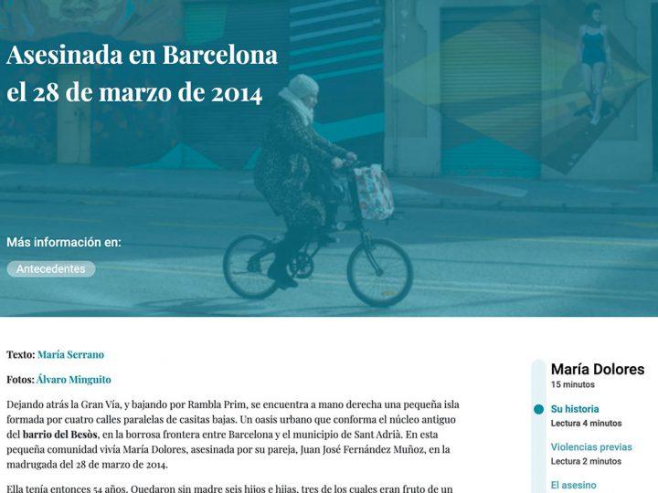 PREMSA: Maria Dolores – Asesinada en Barcelona el 28 de marzo de 2014
