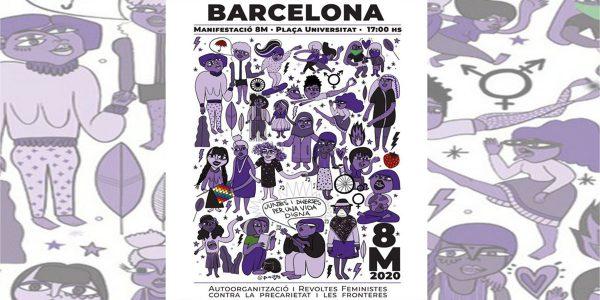 Manifestación 8M 2020 Barcelona