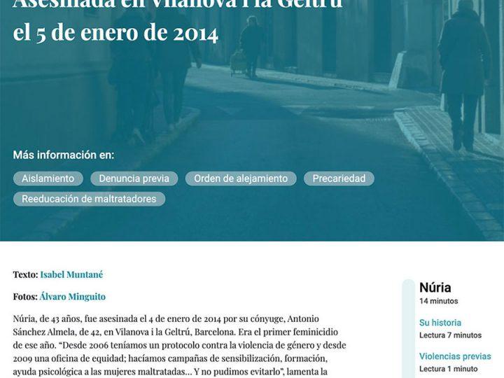 PREMSA: NURIA – Asesinada en Vilanova i la Geltrú el 5 de enero de 2014