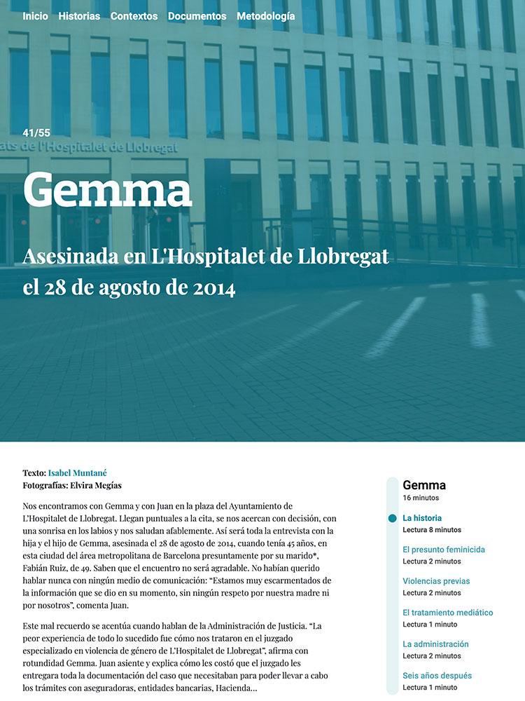 PREMSA: GEMMA - Asesinada en L'Hospitalet de Llobregat el 28 de agosto de 2014