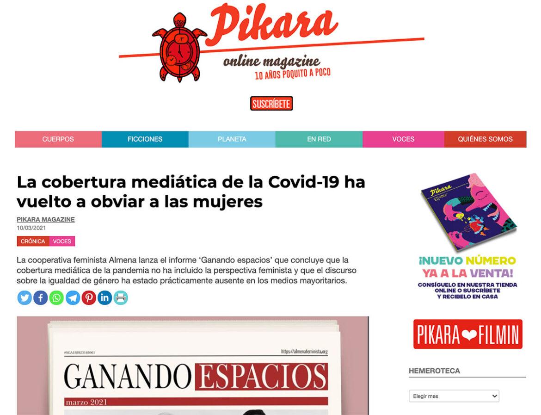 PREMSA: La cobertura mediática de la Covid-19 ha vuelto a obviar a las mujeres
