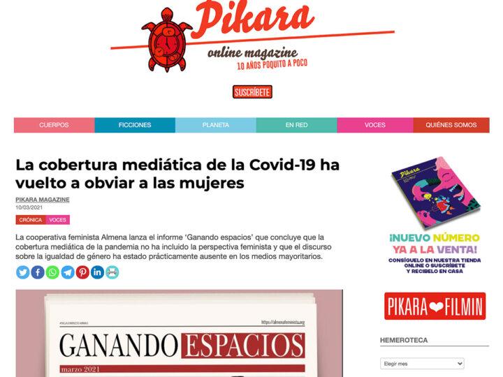 PRENSA: La cobertura mediática de la Covid-19 ha vuelto a obviar a las mujeres